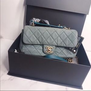 Authentic Chanel Caviar Flap with Top Handle